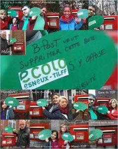 Bpost veut supprimer 13 boites à lettres. ECOLO ESNEUX-TILFF s'y oppose !