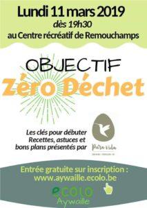 Lundi 11 mars : soirée Objectif zéro déchet (Ecolo Aywaille)