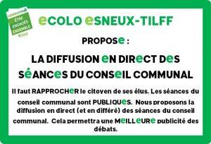 Diffusion en direct du Conseil communal de ce jeudi 19 novembre !