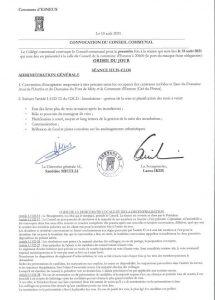 Convocation d'un Conseil communal relatif aux inondations à la demande d'Ecolo et Agora